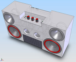 Ghetto blaster CAD drawing